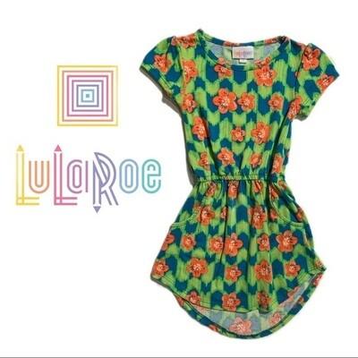 Girls LuLaRoe Mae Green Dress
