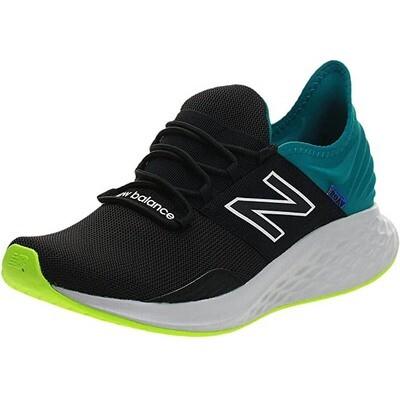 New Balance Men's Fresh Foam Roav V1 Running Shoe Sneaker Black/Team Teal