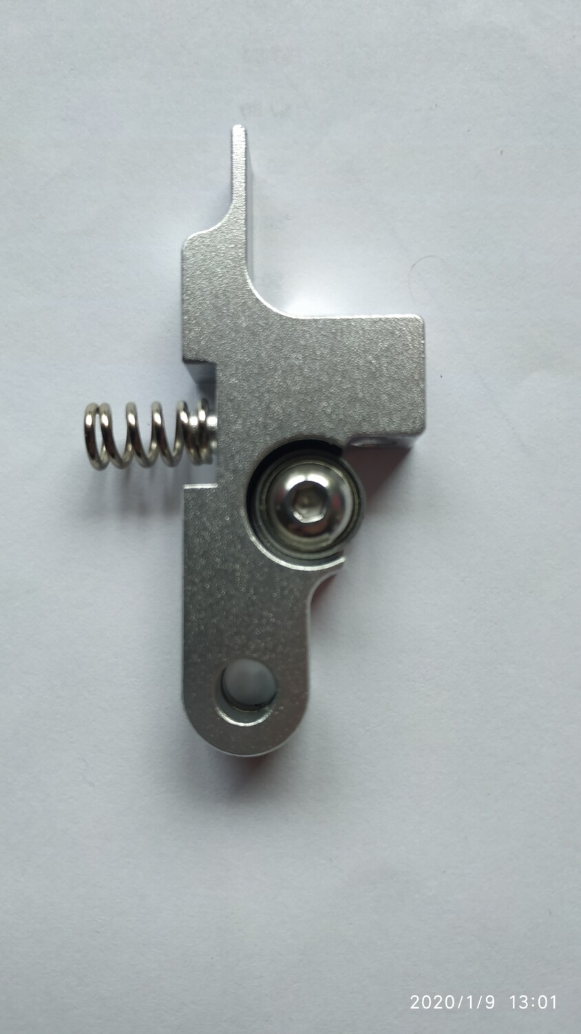 Alloy Titan extruder idler lever. X1 & Genius.  Black or Silver In Stock