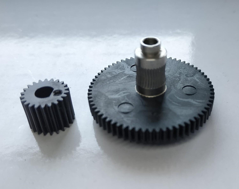 Titan extruder large & small gear wheels.