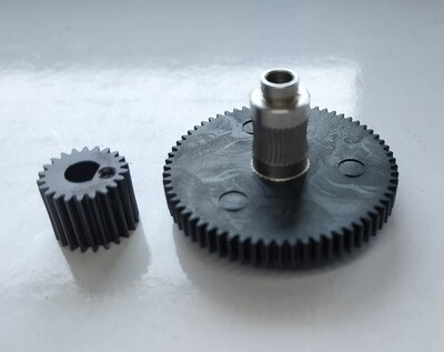 Titan extruder large & small gear wheels.