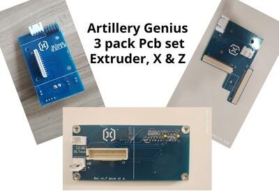 Evnovo Genius PCB SET. 3 pcb X,Z & EXTRUDER