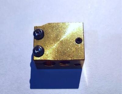 P100 style Brass/copper High temp Heater Block