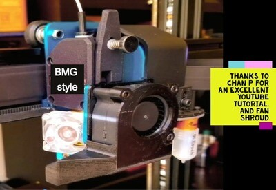 Clone BMG/V6 conversion kit. BMG style extruder & V6 hotend complete. For X1 & Genius. Instock