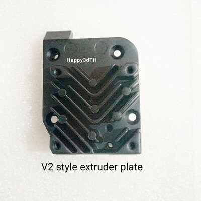 Evnovo Original Replacement Titan alloy Extruder Backplate V2, Combined heat sink (Aero style)