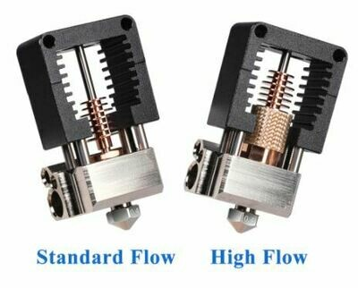 Mosquito Hotend (clone) standard Flow 0.4 with fan, Option with Screw in thermistor & 50w heater cartridge.  Instock