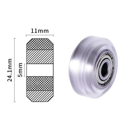 Clear Polycarbonate V-groove Wheel Pulley