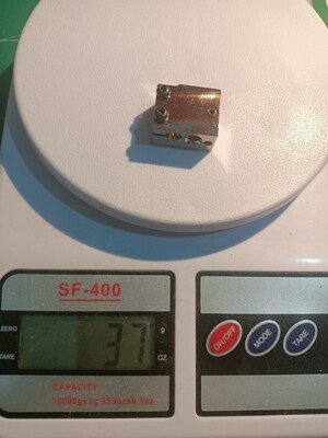 2 piece, Hot end set. P100 style Plated copper Block, Cartridge thermistor 300c 1%,