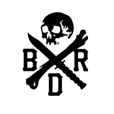 BRD SKULL STICKER