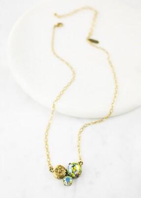 Antique Button Necklace /N766B