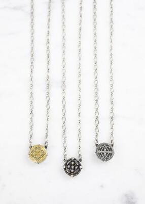 Antique Button Necklace /N749S