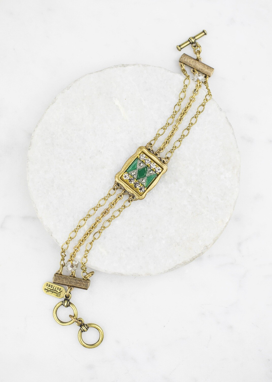 Antique Jade Glass Bracelet /B662B