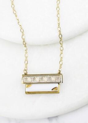 tie clip necklace /N796B