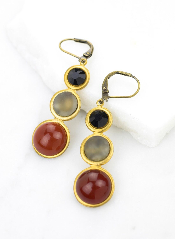 Deco Vintage Earrings /D851B