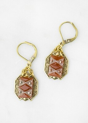 Carnelian Earrings /D819B
