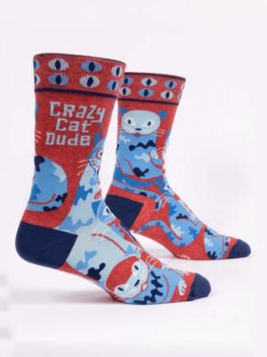 Crazy Cat Dude Men's Socks /870