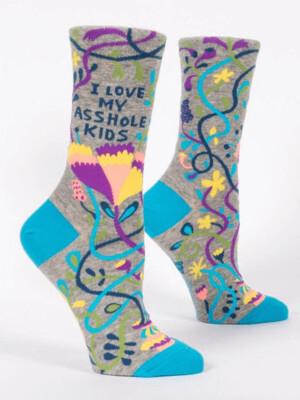 I Love My @#kids Crew Socks /508