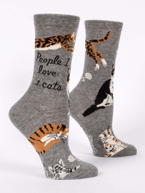 People I Love: Cats Crew Socks /512