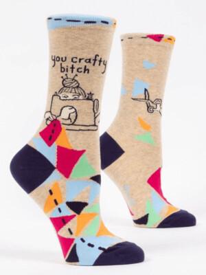 You Crafty Bitch Crew Socks