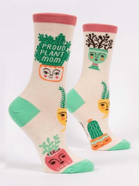 Proud Plant Mom Crew Socks /517