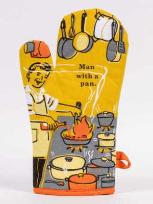 Man With A Pan Oven Mitt /WW128