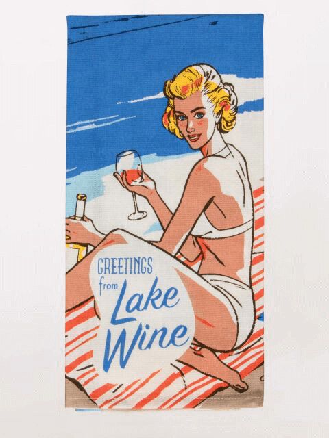Lake Wine Dish Towel /321