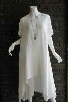 White 2pc Linen Dress /CW6991