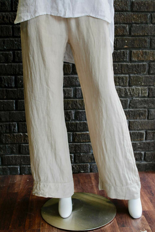 Linen Banded Hem Pants /CW1669
