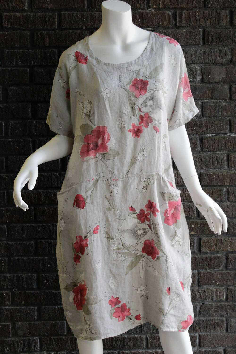 Floral Front Pocket Dress /CW9811