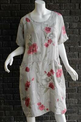 Floral Front Pocket Dress /CW9811