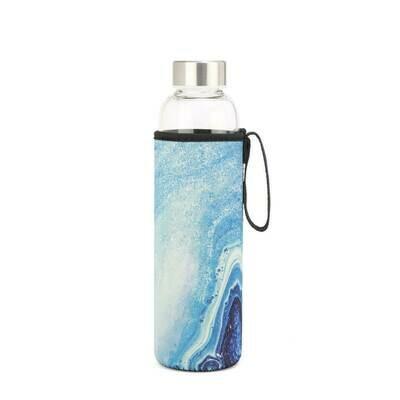 Blue Agate Glass Bottle