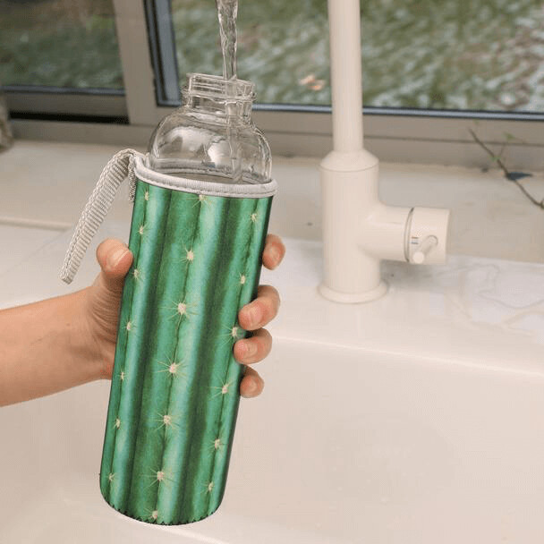 Cactus Glass Bottle + Sleeve /CU248