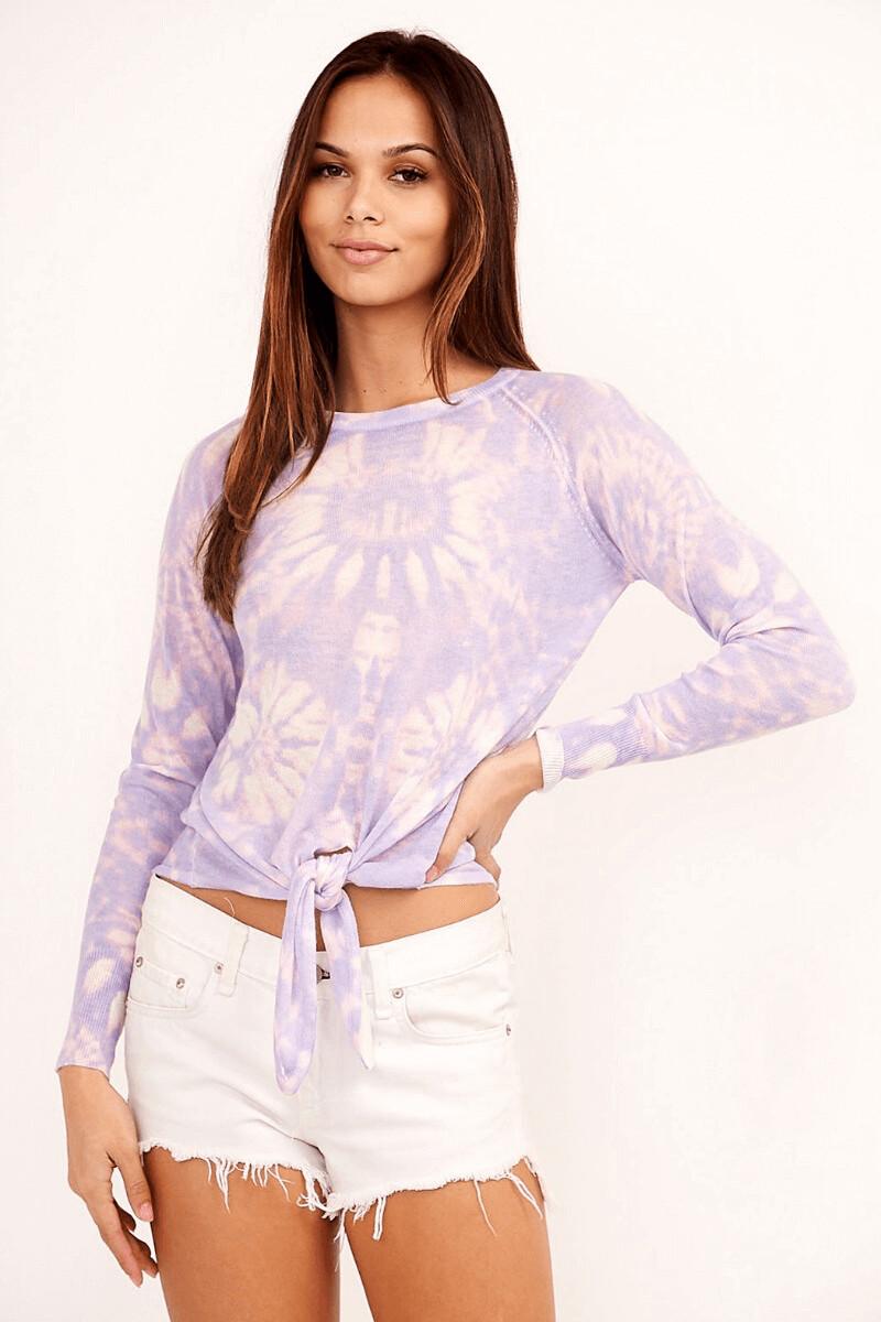 Lavender Tie-dye Sweater
