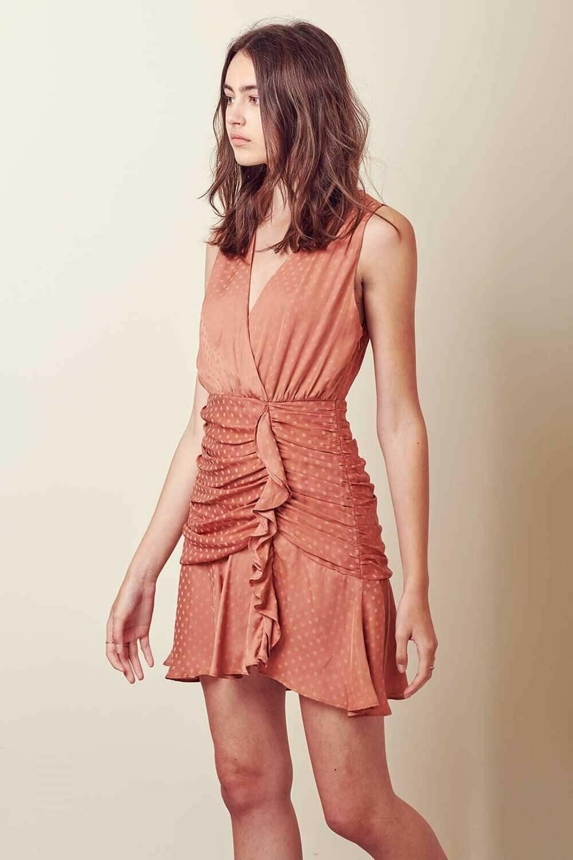 ST6 coral dot dress
