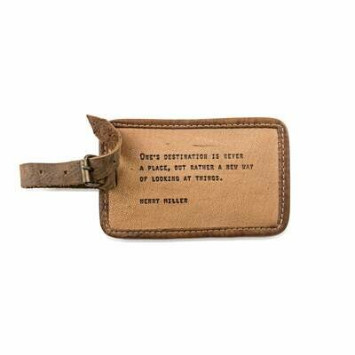 Henry Miller Leather Luggage Tags /LJ130