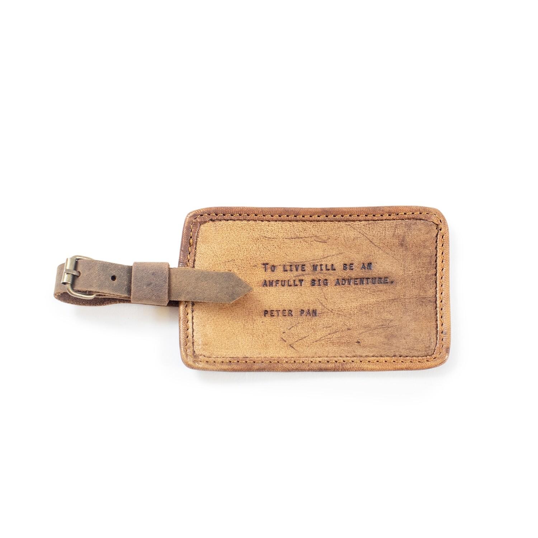 Peter Pan Leather Luggage Tag /LJ154