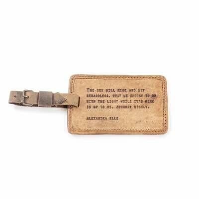 Alexandra Elle Leather Luggage Tag /LJ155