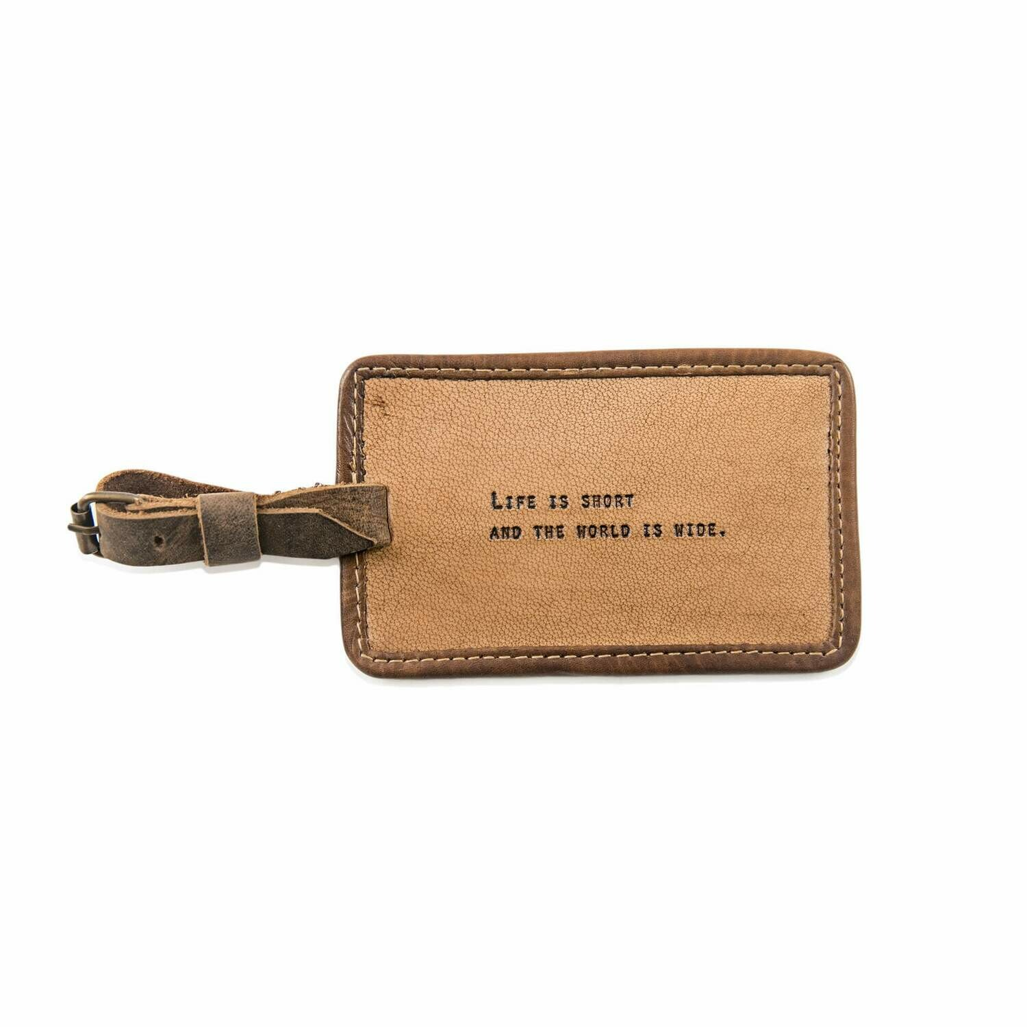 Life is Short Leather Luggage Tag /LJ128
