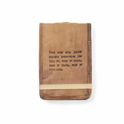 Faith, Truth, & Love 4x6 Leather Journal /LJ161