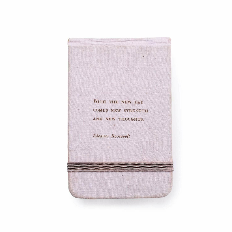 "Eleanor Roosevelt fabric ntbk 3.5""x5.5"""