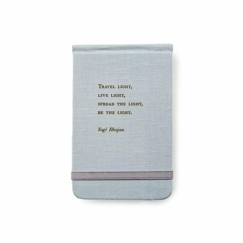 """Yogi Bhajan fabric Ntbk 3.5""""x 5.5"""""""