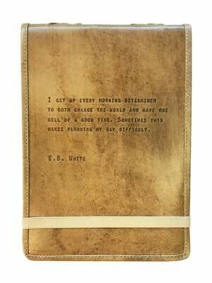 E.B. White Leather Journal /LJ104