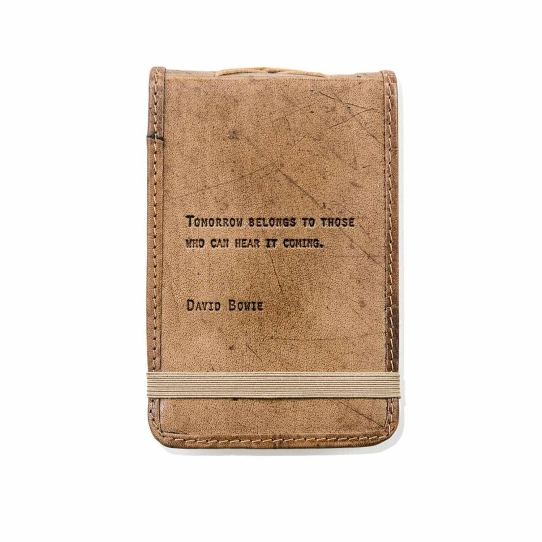 David Bowie 4x6 Leather Journal