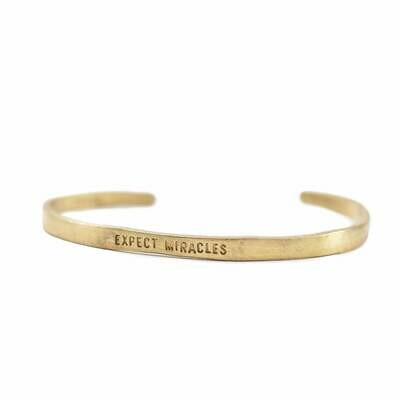 Brass Cuff Expect Miracles /SJ174