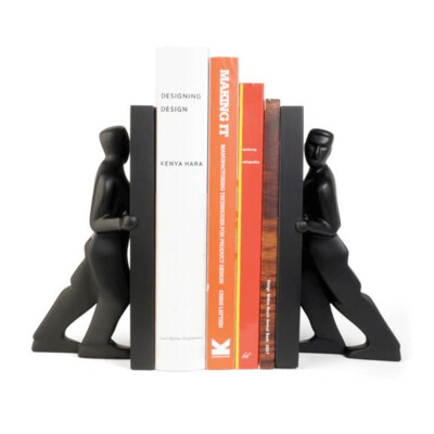 Bookend Pair-Pushing Men /BE01P