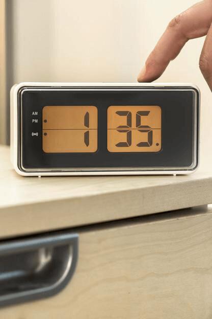 Digital Alarm Clock-Wh