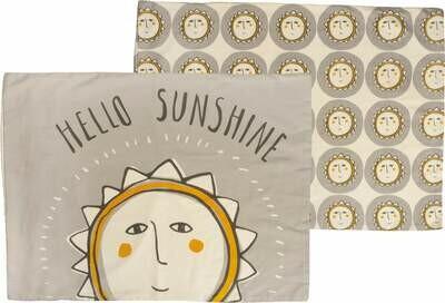 Hello Sunshine Cotton Sateen Pillowcase Set