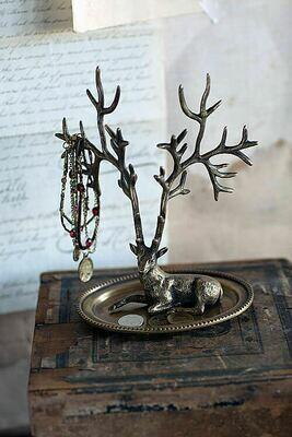 brass deer jewelry hldr