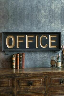 Wooden Office Sign /32