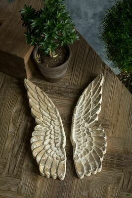 Set Wooden Wings Wall Decor,16.5